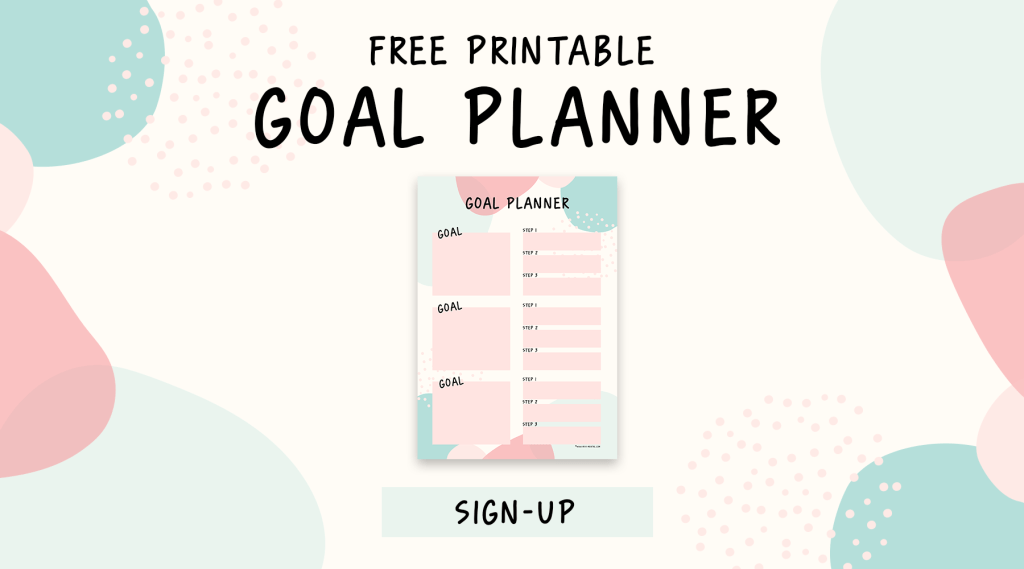 100 + life goals with free printable goal planner. Goal setting worksheet for female entrepeneurs, moms, teenagers and anyone who wants to be serious about their goals. Start reaching your goals with this free printable goal plan