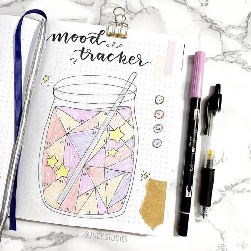 smoothie mood tracker design by study.judy Bullet journal inspiraton