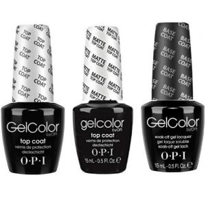OPI GELCOLOR BASE & TOP COAT + MATTE TOP COAT