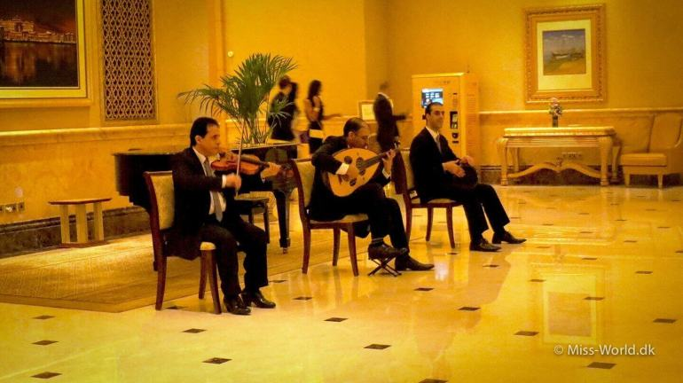 Orchestra in the hall, Emirates Palace Hotel Abu Dhabi