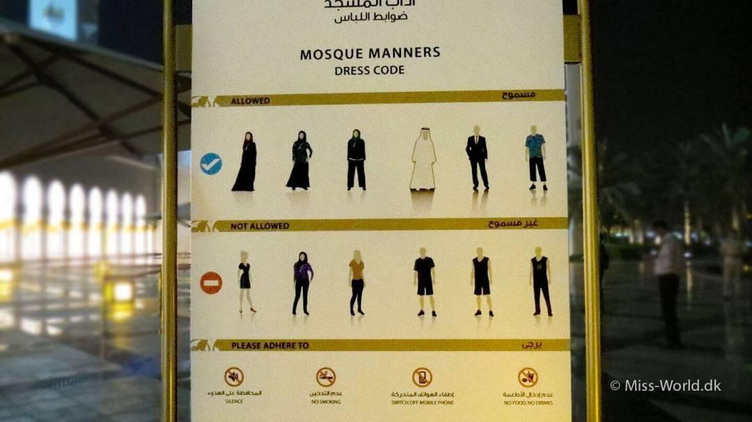 Sheikh Zayed Mosque Abu Dhabi - Dress code