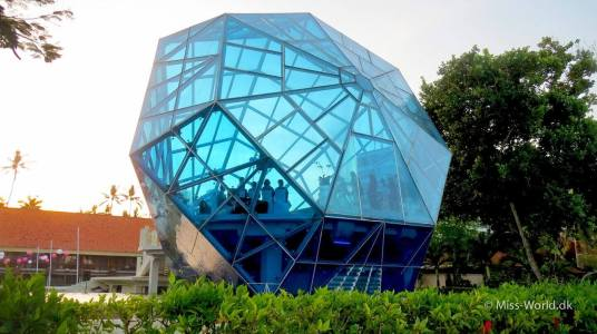 The diamond shaped wedding chapel in Sanur, Bali
