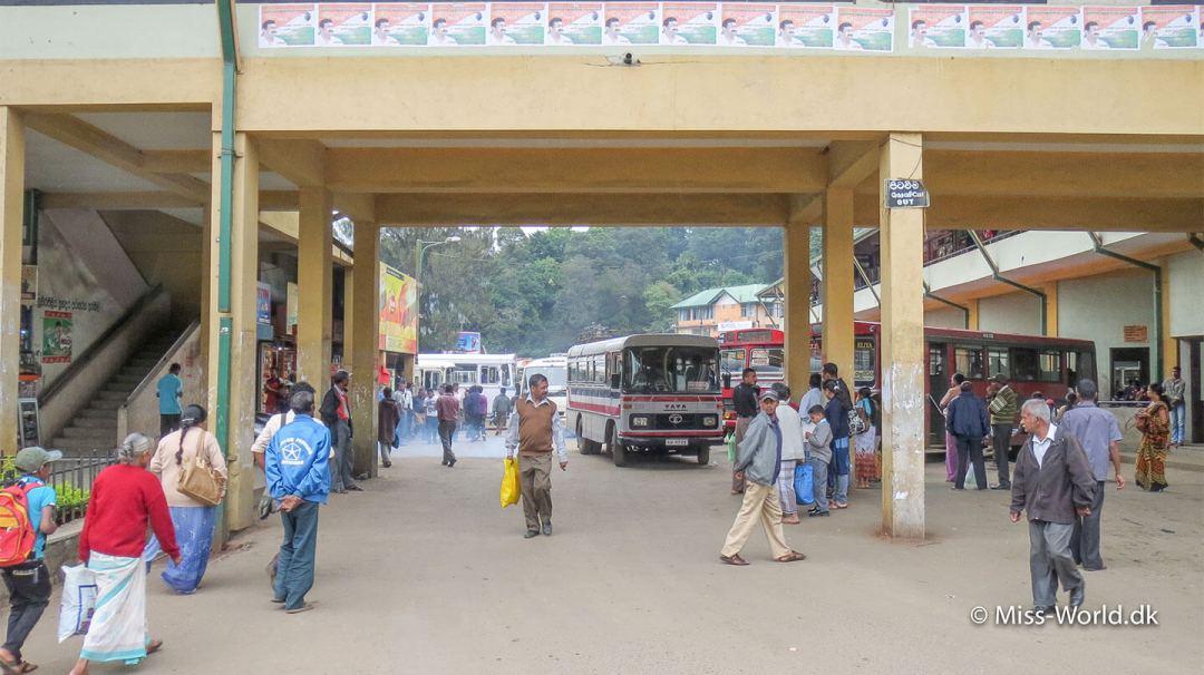 Busstationen i Nuwara Eliya Sri Lanka
