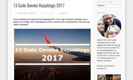 Miss-World anbefalet blandt 13 Gode Danske Rejseblogs 2017