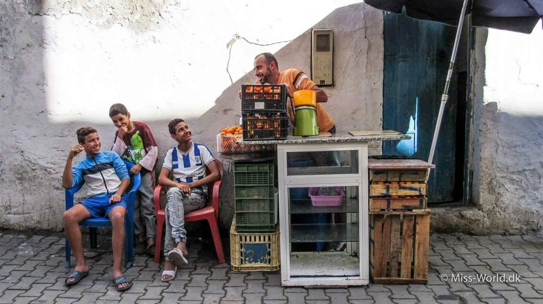 Essaouira Medina Morocco - Freshly made orange juice in the old town of Essaouira.