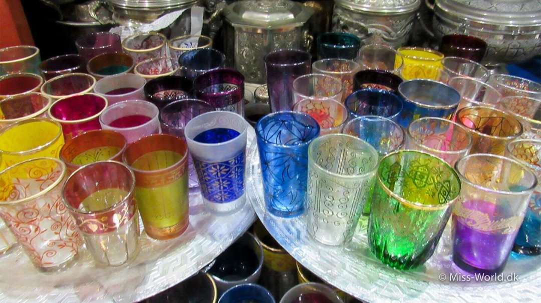 Glass for mint tea Marrakech Morocco