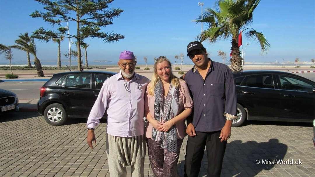 Tour guide Mohamed Chaaouane, undertegnede og chaufførenAssisi