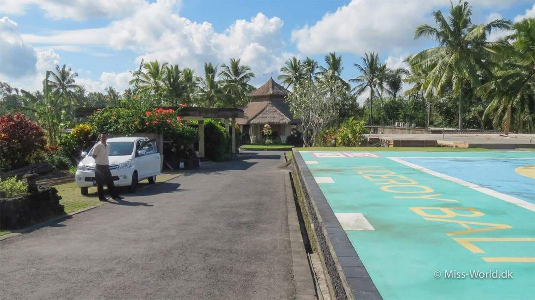 Helipad in front of Viceroy Bali