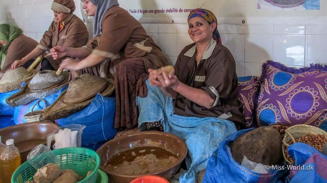 Kvinde-kooperativ Argan olie fabrik Marokko