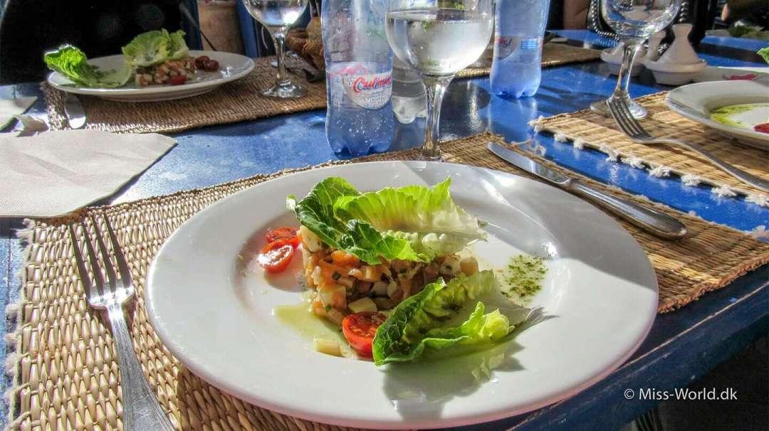 Taros Restaurant Essaouira Morocco Food Octopus