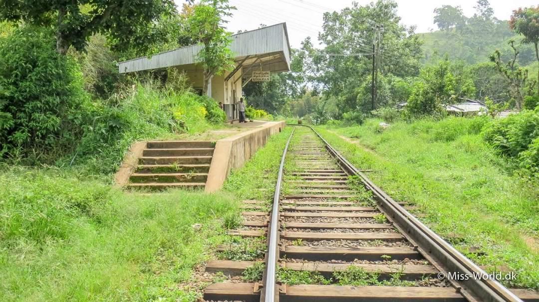 Togstationen i Kithal Ella, Sri Lanka