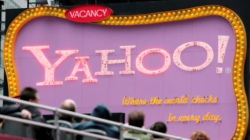 Yahoo-Werbung am New Yorker Times Square