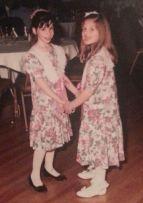 Sara and I matching wedding