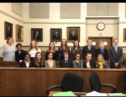 This was my first year competing in mock trial, and we ended up taking home the state trophy! Little Hannah was over the moon!
