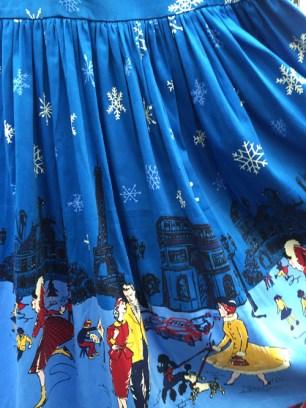 New winter novelty print, skirt form