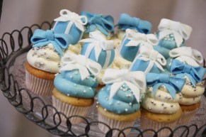 Gorgeous and delicious Tiffany's cupcakes by Kiss Me Cupcakes