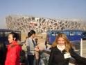 Hier haben wir das olympische Stadion in Peking besucht. Ein Jahr später fand dort die Olympiade statt.