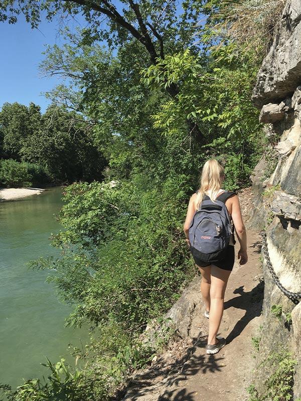 The Barton Creek Greenbelt hidden water holes, Austin TX