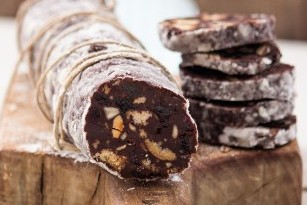 chocolate salami red fruits