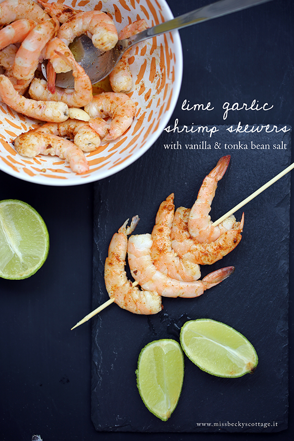 lime vanilla shrimp skewers