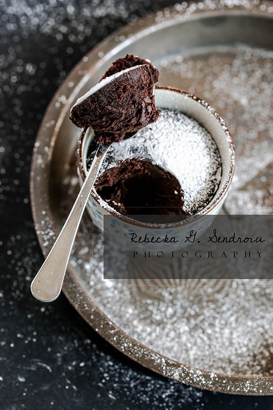 dark chocolate mug cake
