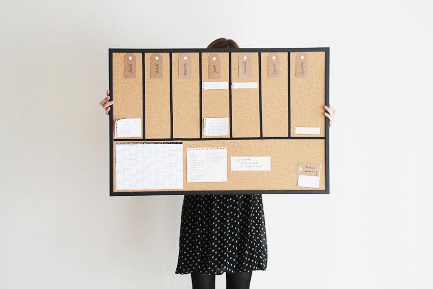 diy un semainier universel accrocher aux murs miss blemish blog lifestyle inspirant souriant. Black Bedroom Furniture Sets. Home Design Ideas