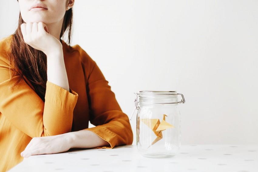 DIY Origami une grue dans un bocal - tutoriel créativité - Miss Blemish