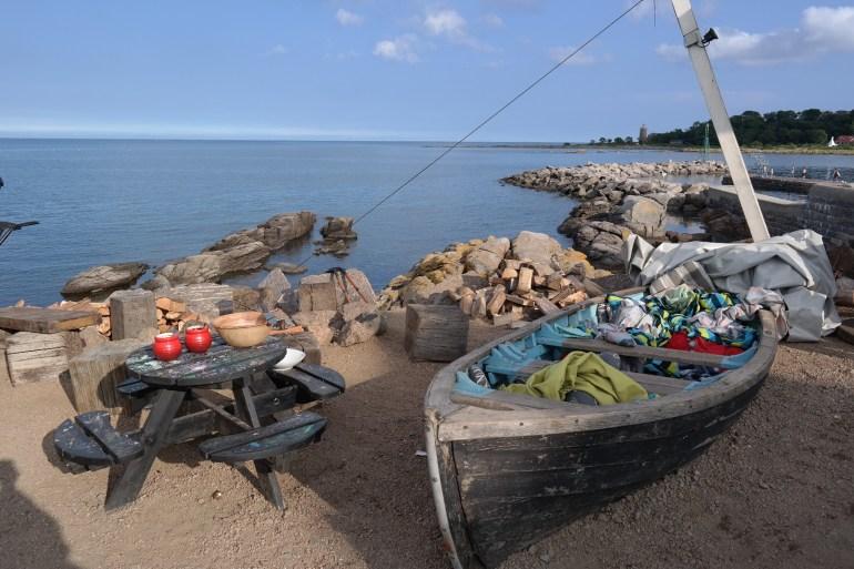 MissBBontour Missbonnebonne Reiseblog Dänemark Camping Urlaub Bornholm kulinarisch Gudhjem Essen Beachbar Open Air