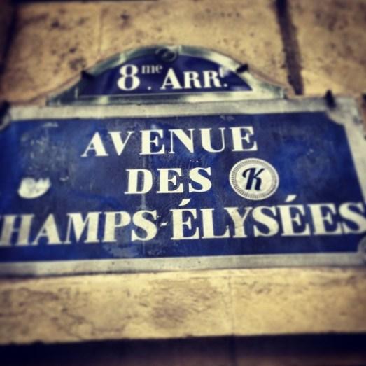 Avenue des Champs Elysee MissBonneBonne