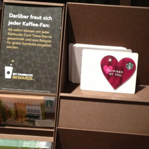 Starbucks Gutscheinkarte Herz Valentinstag