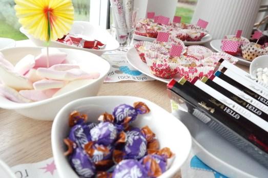 Büroabschied 2 Mutterschutz Frühstück Überraschung Muffins Buffet Candybar