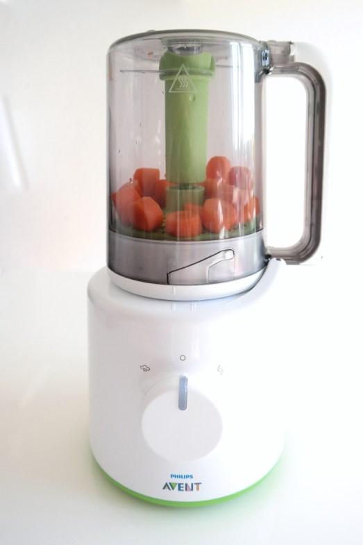 avent dampfgarer babybrei beikost mixer pürieren mamablog bonn deutsch möhren