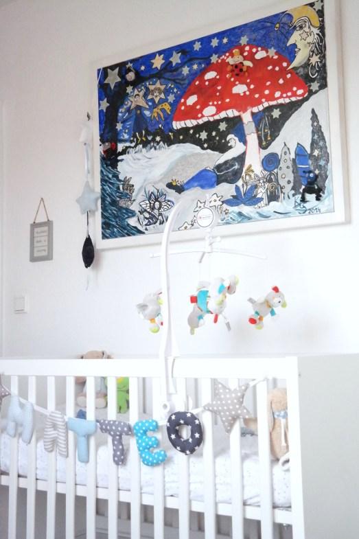 Babyzimmer Kinderzimmer Erstaustattung Blog Kuschelecke Kissen Blog Lifestyle Bonn Sofa kuschelecke Kissen urbanara Hase Happy Horse