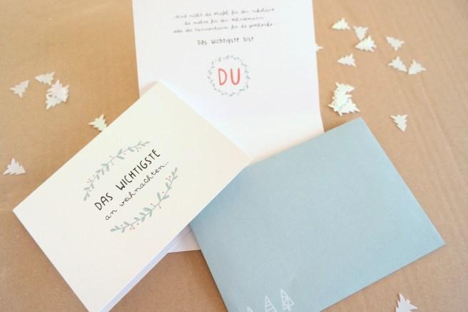 Weihnachtskarten schreiben kreativ selbst schreiben von Hand schreiben