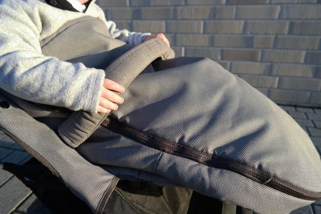 Nuna Pepp Luxx Wintersack Wintercover Fußsack Buggy Mamablog Mamablogger_de BabyBB #superbabybbb grau warm kalt