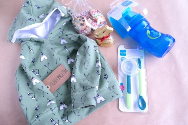 Ideen Ostergeschenk Ostern Osterplätzchen Blog Bonn Köln MissBonneBonne MiniPaulitaa Geschenkidee Baby Kind Junge Mam Hoodie