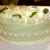 Mojito Cake with Lime Cream Cheese Frosting