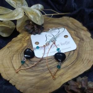 Boucles d'oreilles «cœurs précieux»