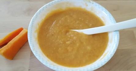 rezept vegetarisch Babybrei mit Pastinake, Karotten, Kartoffeln und Süsskartoffeln.