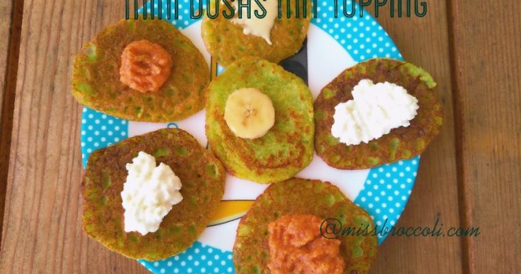 Grüne Mini-Dosas #fingerfood