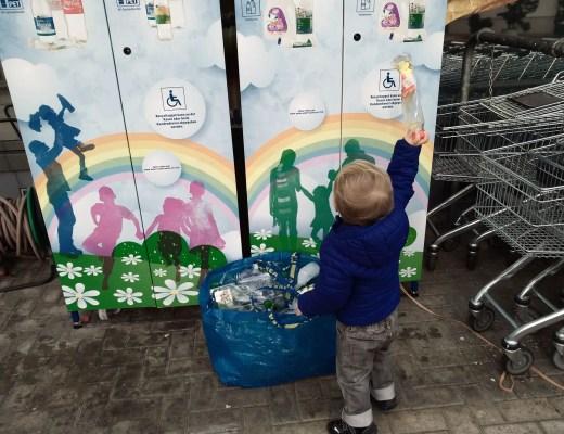 recycling mit Kindern - PET Flaschen entsorgen