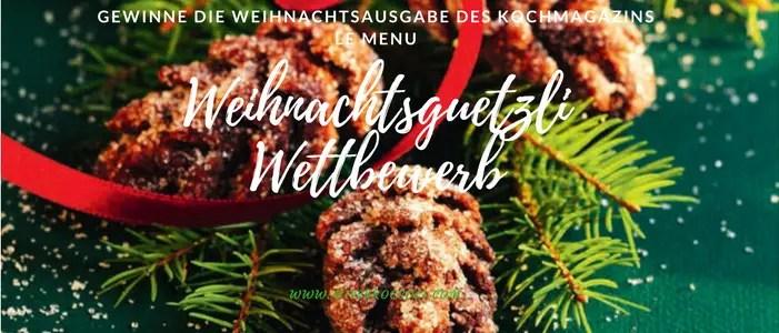Weihnachtsguetzli Foto-Wettbewerb – zeig dein schönstes Guetzli und erhalte das LE MENU gratis
