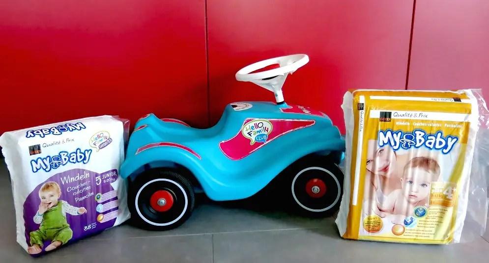 My Baby Windeln kaufen und gratis Bobby Car erhalten