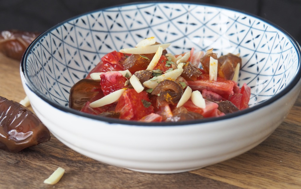 Blutorangen Dessert Mandeln Datteln orientalisch rezept