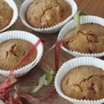 Rhabarber Himbeer Muffins glutenfrei, vegan, ohne zucker, kinder, rezept, backen, gesund
