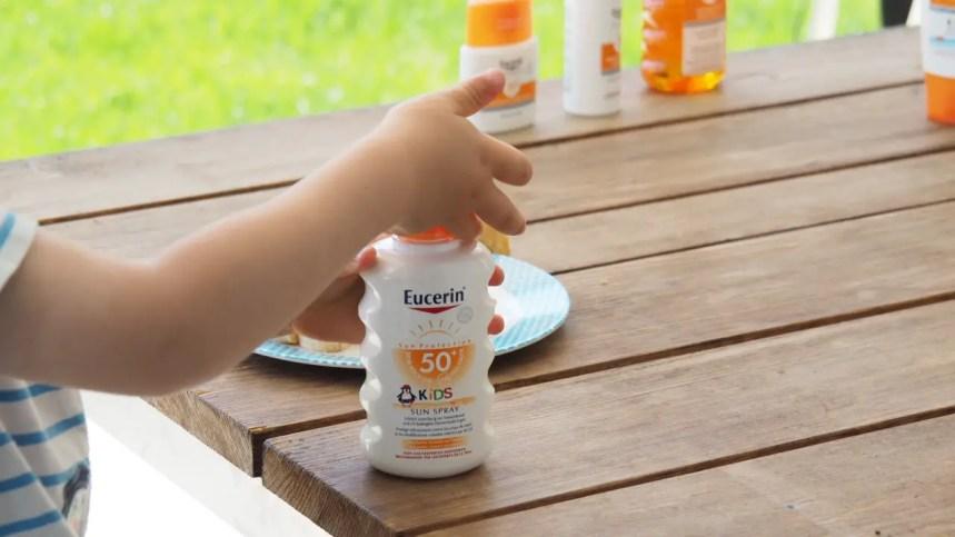 Eucerin Sonnenschutz testbericht, blog, mama, lichtschutzfaktor 50, 30 test, sonnencreme, kids, kinder