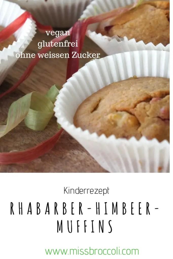 rhabarber himbeer muffins kinder rezept vegan glutenfrei zuckerfrei