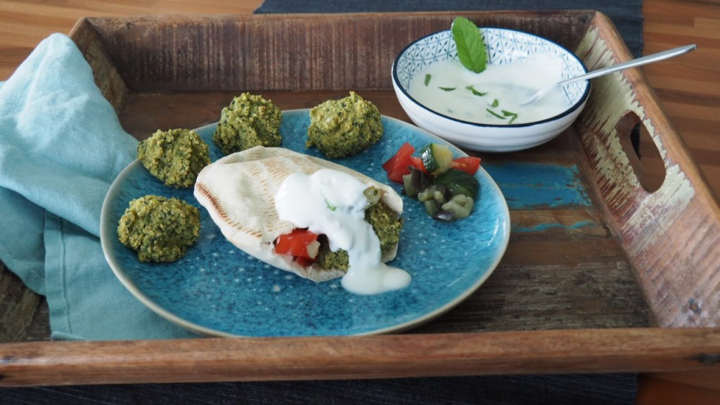 Falafel aus dem Ofen rezept, grün spinat, familie, kinder, schwanger, ohne knoblauch,