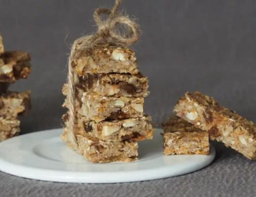 Müsliriegel selbstgemacht rezept kinder apfelmus haferflocken aprikosen