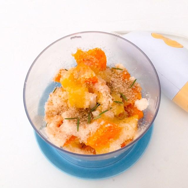 Polpette zucca e patate da frullare